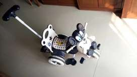 Baby Tricycle Navy Blue and White for 1-3 yrs from Amardeep