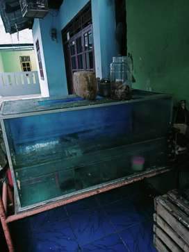 Aquarium panjang 150 x Lebar 50 +Rak