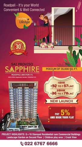 Sai Proviso Sapphire 1 BHK 490 Sq Ft Flats for Sale in Roadpali