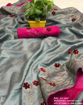 Kim Marvellous women's saree(COD Only)