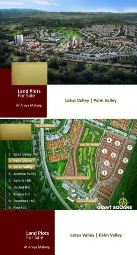 Tanah Araya Palm Valley  Hadap Selatan Harga Nego!