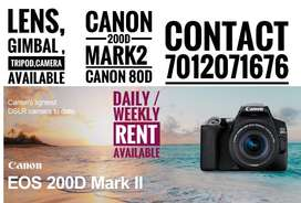 Canon 200d mark 2 for rent with 50mm camera rent dslr