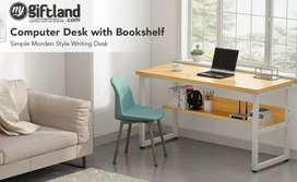 Table for laptops with book shelves