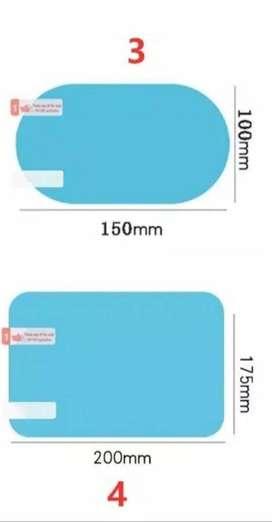 Paket termurah : ANtiFOG kaca mobil samping dan spion Ukuran Jumbo