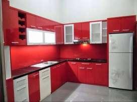 HPL interior kitchen set bifet rak tv almari lemari minibar furniture