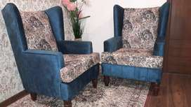"IMMEDIATE SALE - ""WINGED CHAIR WITH CUSHIONS""!!"