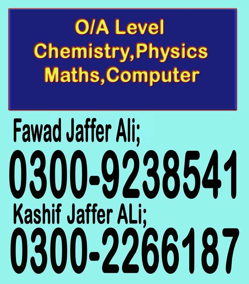 O/A Level Chemistry | Biology [TUTOR at Your Residence] TUTOR'S POINT 0