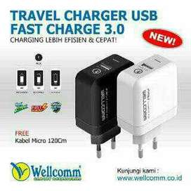 Charger Wellcomm 3.0 A Fast Charging