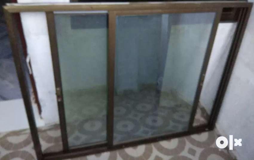 "Window Slider (Aluminum Section) 45"" x 58"" 0"