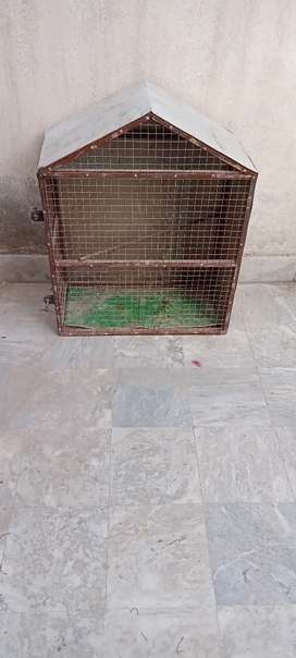Birds cage for sale  weight 2.5 feets and lenght 1.5 feets