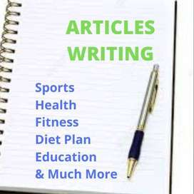 Services Available as a Content Writer