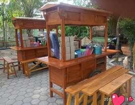 gerobak angkringan komplit dengan perabotannya  GRATIS ONGKOS KIRIM