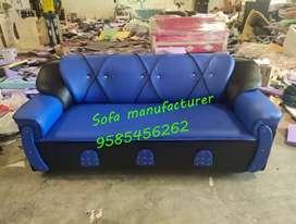 Black with blue sofa set.