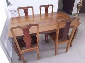 Burma Teak Wood Dining Table