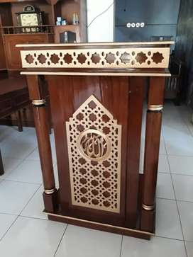 Mimbar masjid mini ukiran kecil al qadir t26h