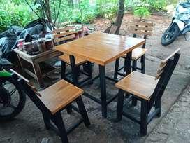 Set meja kursi cafe murmer