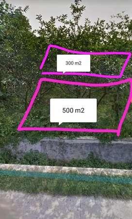 Tanah 300/ 500 mtr, di pinggir jalan 10 menit ke stasiun Citayam