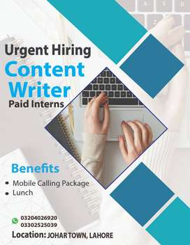 Content Writing Internees