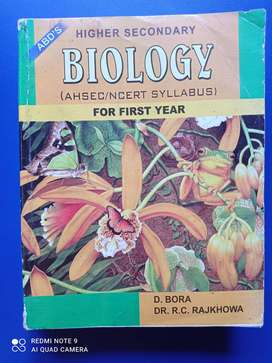 Biology For first year hs written by D.Bora and Dr. R.C. Rajkhowa