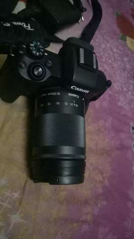 canon m50 with extra zooming lence