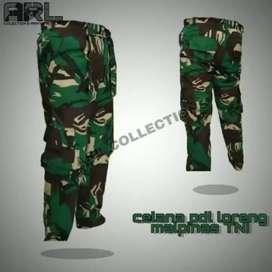 Celana PDL Cargo Army Loreng Panjang/Pendek Pria size 28-40
