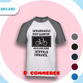 T-shirt distro raglan cotton combed ONTHEL