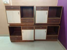 4 wooden office tables