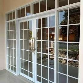 Kusen pintu jendela alumunium pintu toko kantor almunium