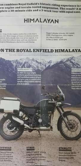 Himalayan off-road exhaust /silencer /muffler