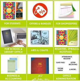 Paper stationary for shops, students, offices. Quality n cheap