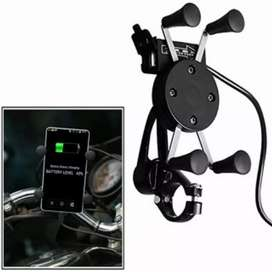 360 Degree bike mobile holder with charger