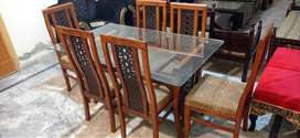 Pure Shesam/Tali Wood Dining Table With 6 Chairs