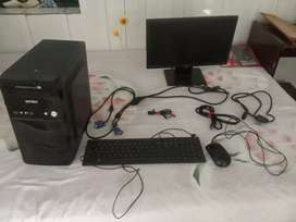Dell monitor,  Dell screen, Dell Mouse, Intex cpu