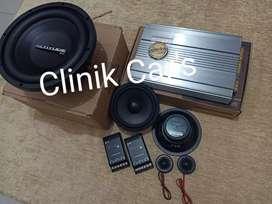 Subwoofer audio mobil merk altitude, power buddy, & split fonalivo**