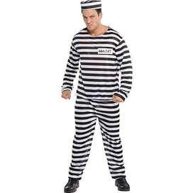 new kostum tahanan prisonner napi kriminal penjahat dewasa halloween