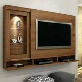 Brand new sheesham solid wooden wall t.v unit