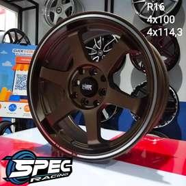 Velg HSR Tokyo R16x7 H8x100-114,3 Bronze Cicilan 0%