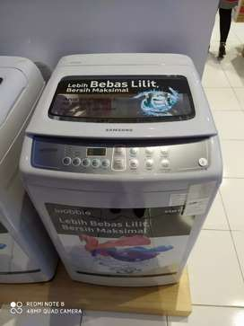 Mesin cuci Samsung 8,5KG bisa di cicil cukup bayar 500rb aja guys