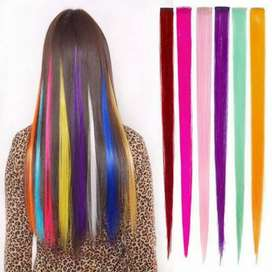 Pack of 5 Hair Extensions Multi-Colors