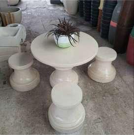Meja dan Kursi Terasso marmer