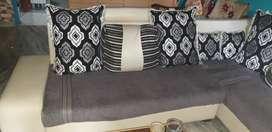 L shave sofa