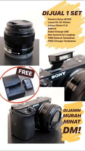 Sony a6300+2 Lensa Nego Ajaa!!