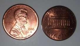 Koin 1 cents US th. 2006 buat koleksian