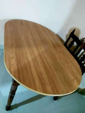 Pure wooden 1 pc sofa set and one 4 chair set dinning tabel
