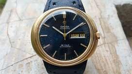 Ori 70s Omega De Ville Dynamic blue marble dial Gold Top seamaster VG