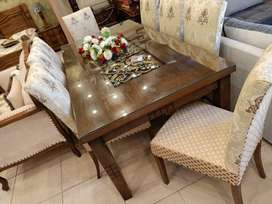 Full Coution Stylish Dining table set Wooden Top (8 seater)