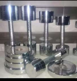 Gym Plate & Dumbells