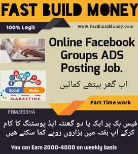 Golden opportunity for earn money by posting adds