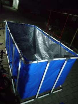 Kolam Terpal Pipa Praktis Murah 2x1x0,5,
