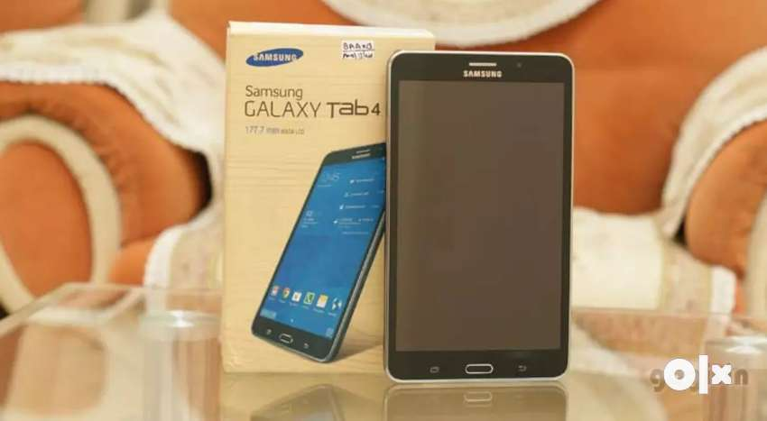 Samsung Tab 4, with calling feature,fix price, bill box charger manual 0
